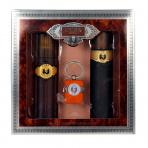Cuba - Gold Férfi parfüm Set (Ajándék szett) EDT 100ml + 100ml Borotválkozás utáni after shave + Kulcstartó