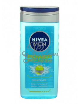 Nivea - Men Power Refresh Shower Gel Férfi dekoratív kozmetikum Tusfürdő gél testre, arcra és hajra Bőrápoló 250ml