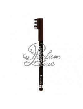 Rimmel London - Eyebrow Pencil Női dekoratív kozmetikum 001 Dark Brown Szemkihúzó 1,4g