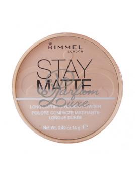Rimmel London - Stay Matte Long Lasting Pressed Powder Női dekoratív kozmetikum 002 Pink Blossom Smink 14g
