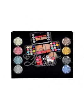 Makeup Trading - Diamonds Set Női dekoratív kozmetikum Set (Ajándék szett) 13,44g Szemhéjfestékek + 4,8g Arcpír + 14,4g Arc púder + 3,2g Szájfény, Dekoratív kozmetikai készlet