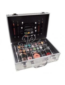 Makeup Trading - Schmink Set Alu Case Női dekoratív kozmetikum Teljes Smink Paletta, Kazettás dekoratív kozmetika Dekoratív tok 72g